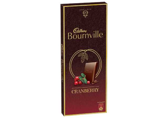 Cadbury Bournville Cranberry Dark Chocolate Bar, 80g (Pack of 5)