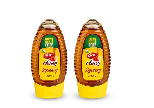 Dabur Honey - World's No.1 Honey Brand - Squeezy Pack - 225 gm ( Buy 1 Get 1 Free)