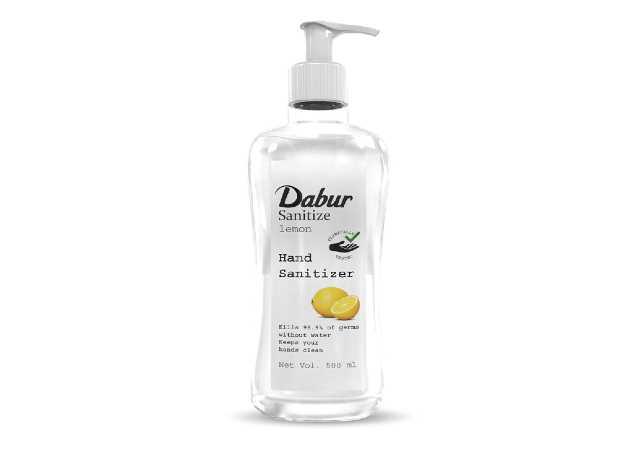 Dabur Sanitize Hand Sanitizer| Alcohol Based Sanitizer (Lemon) - 500 ml
