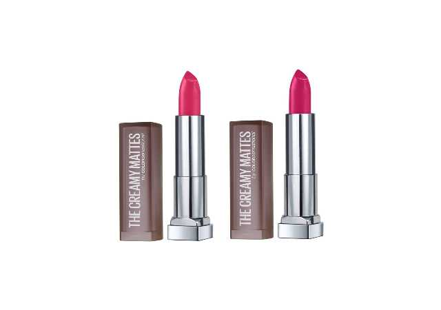 Maybelline New York Color Sensational Creamy Matte Lipstick, 630 Flaming Fuchsia, 3.9g And Maybelline New York Color Sensational Creamy Matte Lipstick, 680 Mesmerizing Magenta, 3.9g