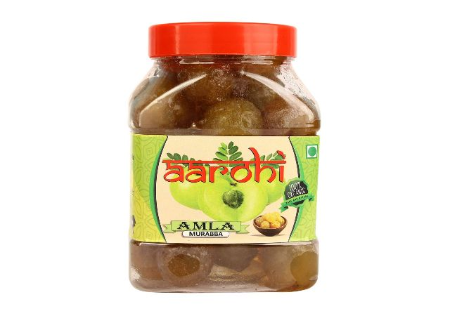 Aarohi Pure Natural Organic Made in India Home Made Sweet Amla Murabba (1 Kg)