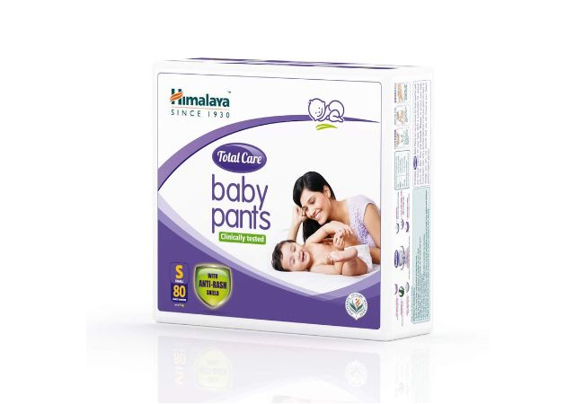 Himalaya Total Care Baby Pants Diapers, Small (Upto 7 kg), 80 Count