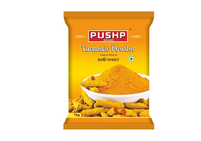 Pushp Brand Turmeric Powder Pouch (Pack of 1,1kg pack)