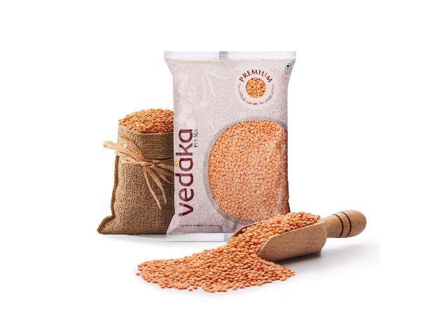 Amazon Brand - Vedaka Premium Red Masoor Whole, 1kg