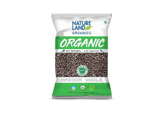 Natureland Organics Moong Sabut/Whole Daal Pouch, 1 kg