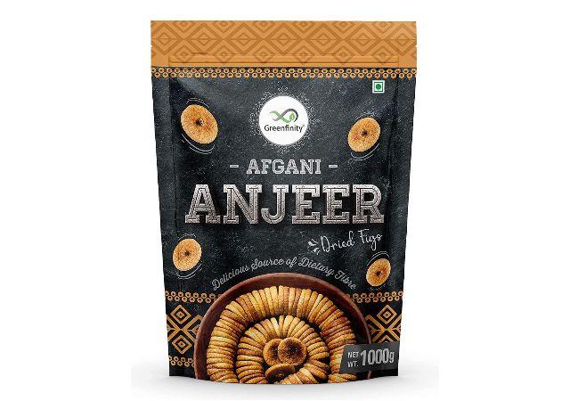 GreenFinity Premium Afghani Anjeer - 1Kg   Dried Figs   Vacuumed Pack.
