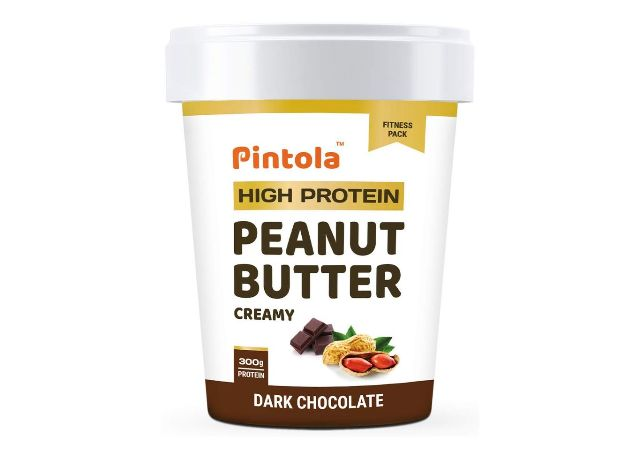 Pintola All Natural Peanut Butter (Crunchy) (1kg) | Unsweetened | 30g Protein | Non GMO | Gluten Free | Vegan | Cholesterol Free