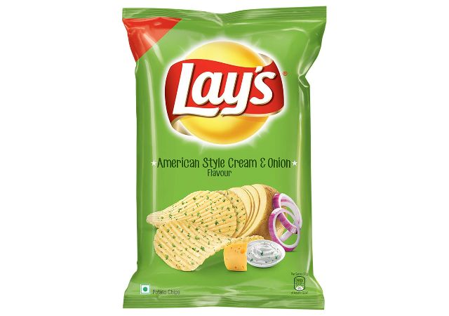Lay's Potato Chips American Style Cream & Onion Flavour, 78 g