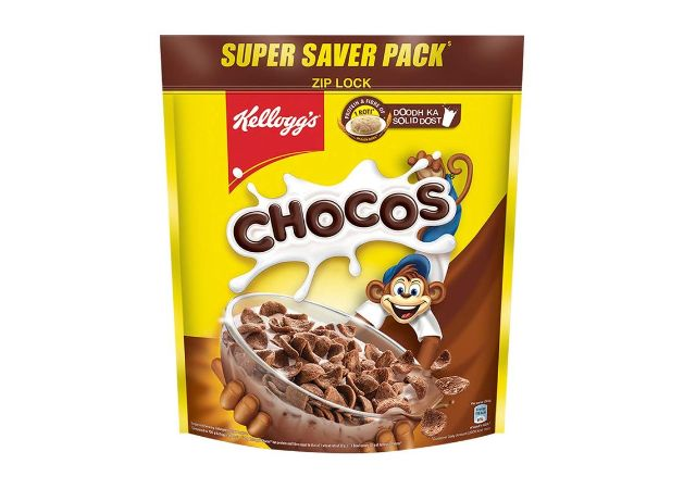 Kellogg's Chocos, with Protein & Fibre of 1 Roti* in each bowl**, High in Calcium & Protein, with 10 Essential Vitamins & Minerals, Breakfast Cereals, 1.2 kg Pack