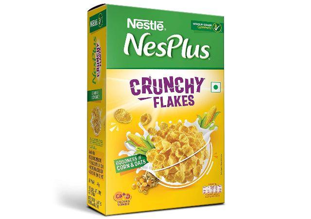 Nestle NesPlus Breakfast Cereal - Crunchy Flakes with Corn & Oats, 475g Carton