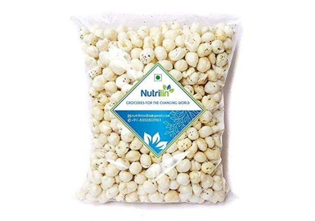 Nutrilin Jumbo Handpicked Lotus Seeds / Fox Nuts Big Size Phool Makhana (Pop / Gorgon Nut Puffed Kernels ) (1kg)