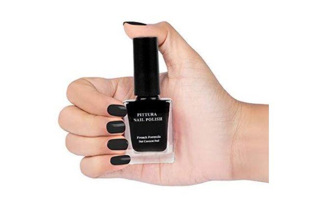 MINISO Pittura Nail Polishes Long Lasting Nail Paint (01 Black)