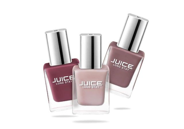 JUICE Glossy Nail Polish - Pack of 3 ( Sun Kissed / Dusty Coral / Camel NUDE ) COMBO_27