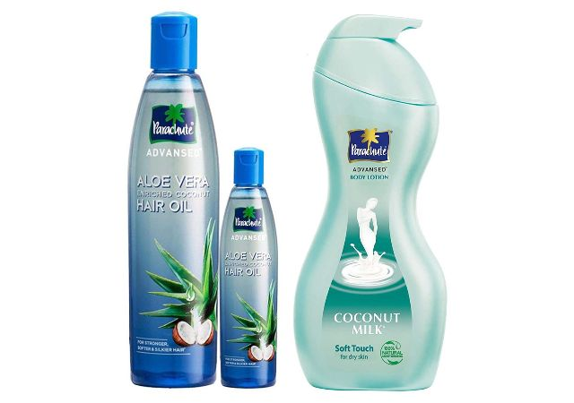 Parachute Advansed Aloe Vera Enriched Coconut Hair Oil, 250ml (Free 75ml) And Parachute Advansed Body Lotion Soft Touch, 400 ml