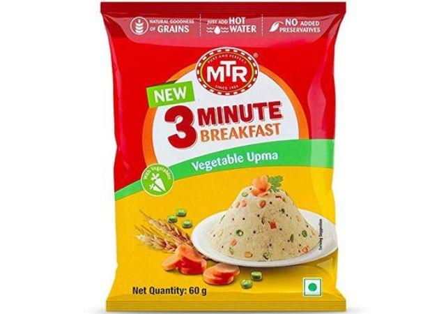 MTR 3 Mins Breakfast Vegetable Upma Pouch 60g