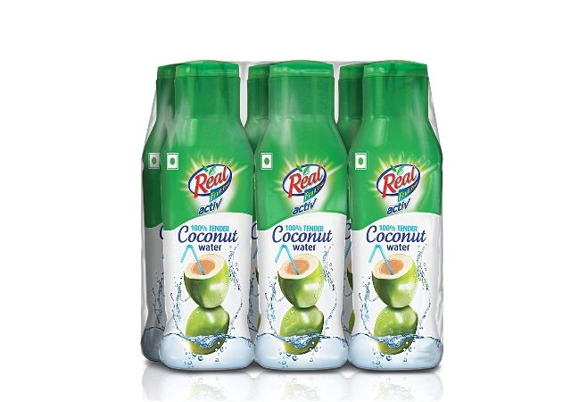 DABUR Real Activ 100% Tender Coconut Water – No Added Sugars – 200ml (Pack of 6)