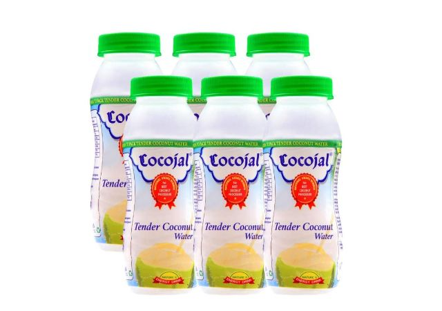 Cocojal Natural Tender Coconut Water, 200ml (Pack of 6)