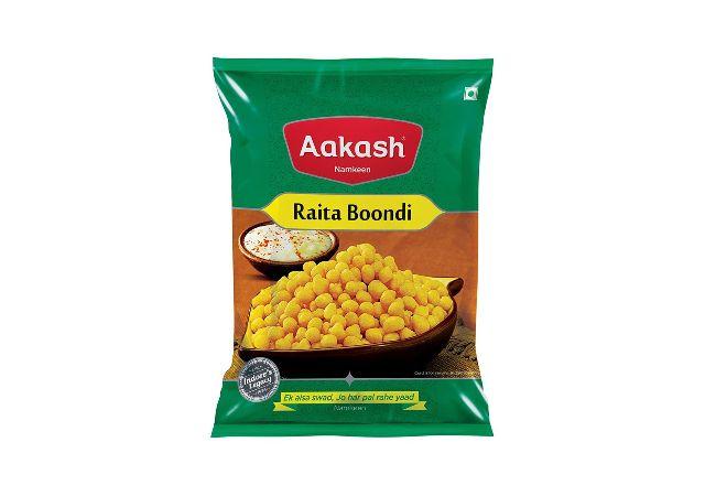 Aakash Namkeen Raita Boondi (150 Gm Each) - Pack Of 2