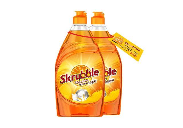 Skrubble High Action Dishwash Liquid - 500 ml (Pack of 2)