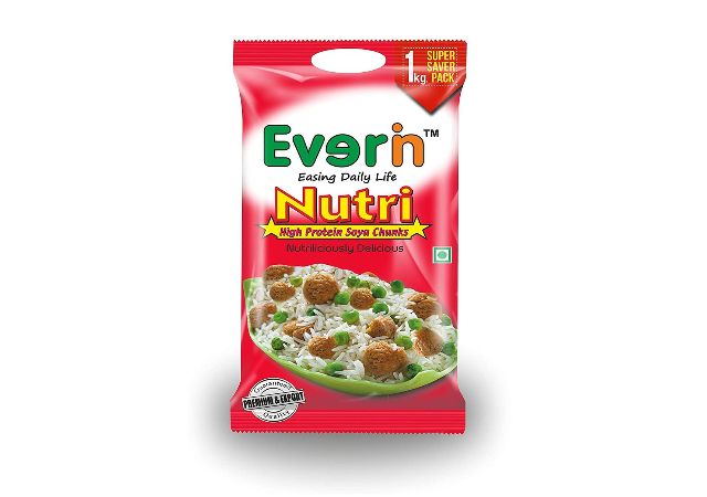 Everin Nutri High Protein and Healthy Gluten Free SOYA Chunks 1kg