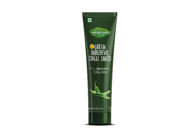 Wingreens Farms Green Daredevil Chilli Sauce (Pack of 1)
