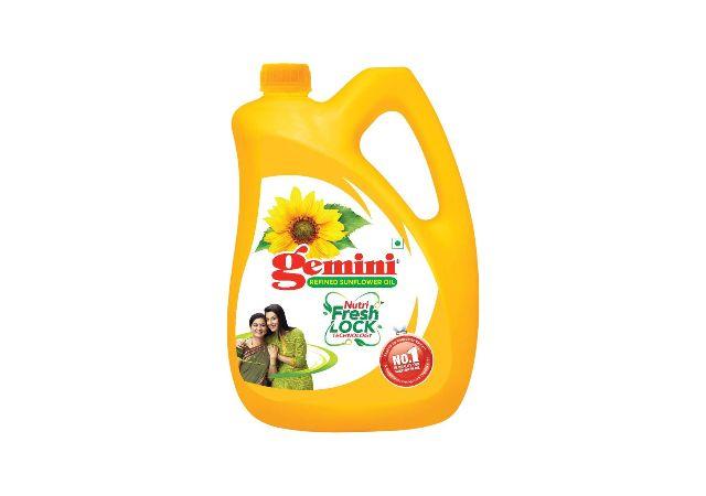 Gemini Refined Sunflower Oil Jar, 5L